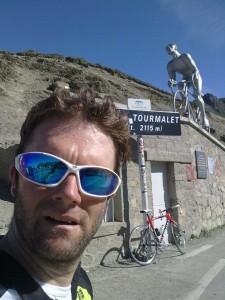 En la cima del Tourmalet