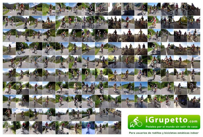Mosaico participantes Quebrantahuesos 2014