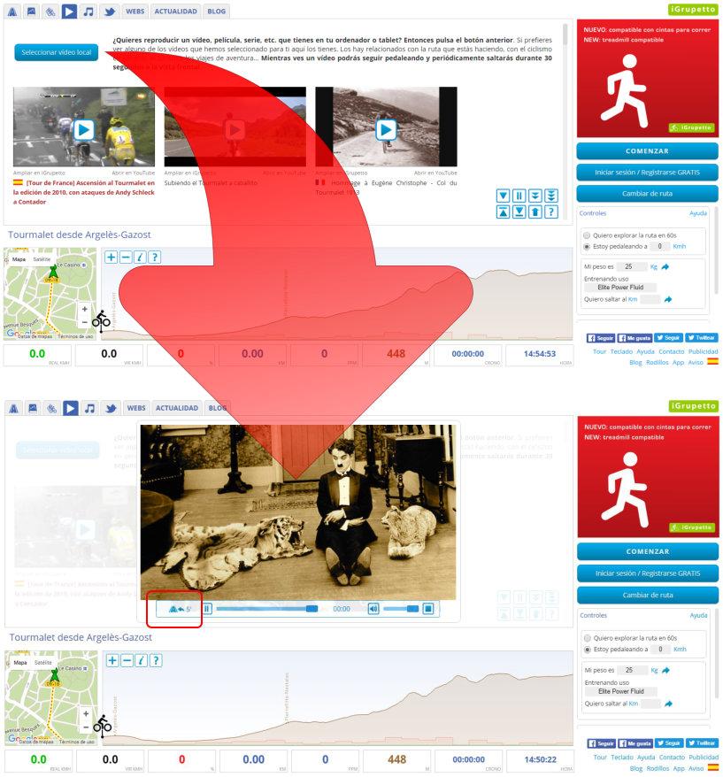 Vídeos locales en iGrupetto